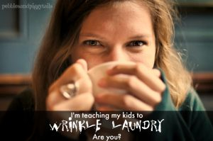 teaching kids to wrinkle laundry