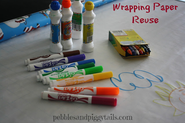 Summer Solution #2 — Reuse Wrapping Paper