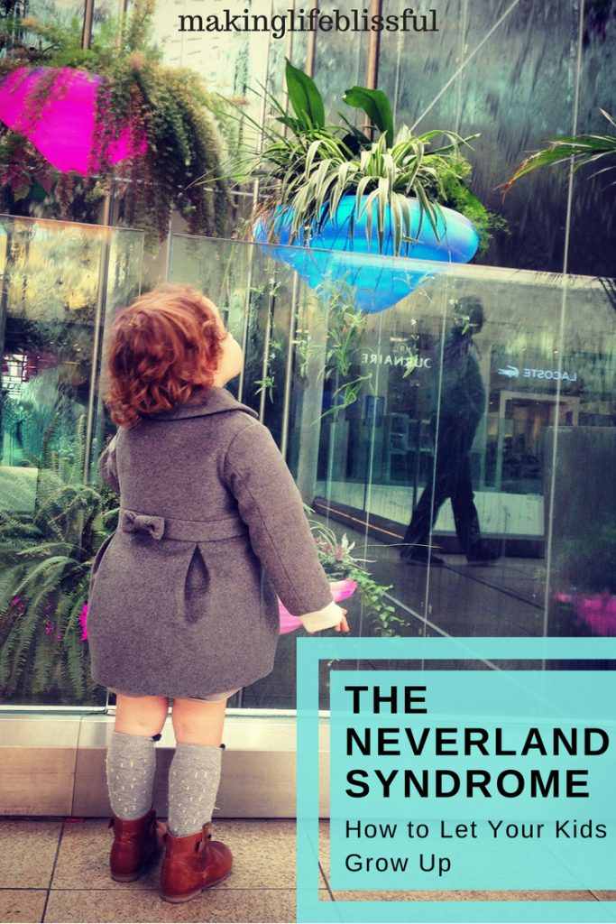The Neverland Syndrome. How to let your kids grow up