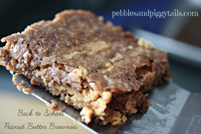 Back to School Peanut Butter Brownies