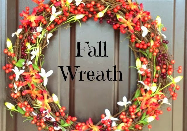Simple Fall Decorations (using Mod Podge)