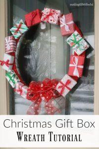 christmas gift wreath tutorial