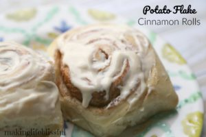 Soft Potato Cinnamon Rolls
