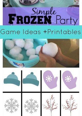 frozen party game ideas printable