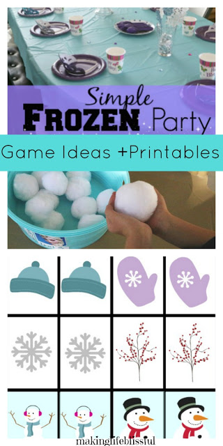 Simple Frozen Party Ideas and Printables