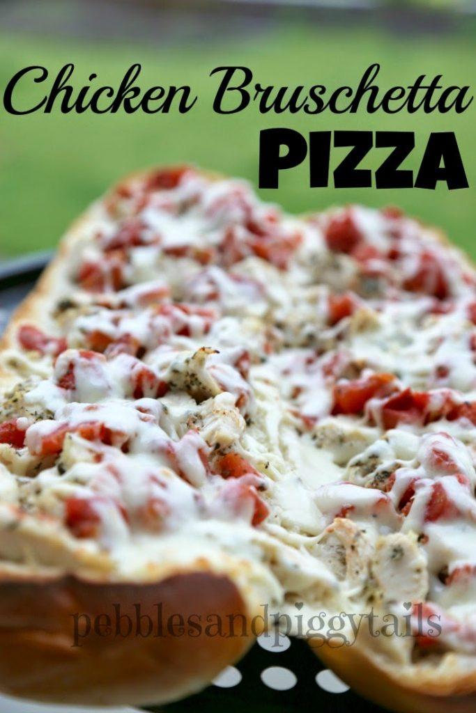 Chicken Bruschetta French Bread Pizza