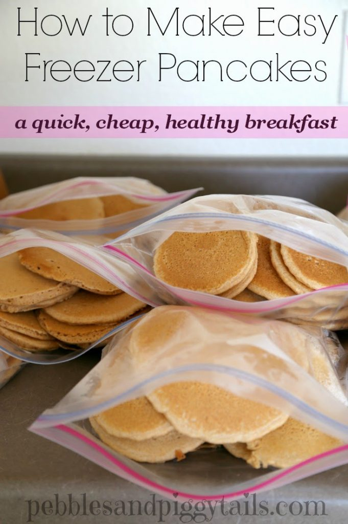 How to Make EASY Freezer Pancakes for Busy School Mornings