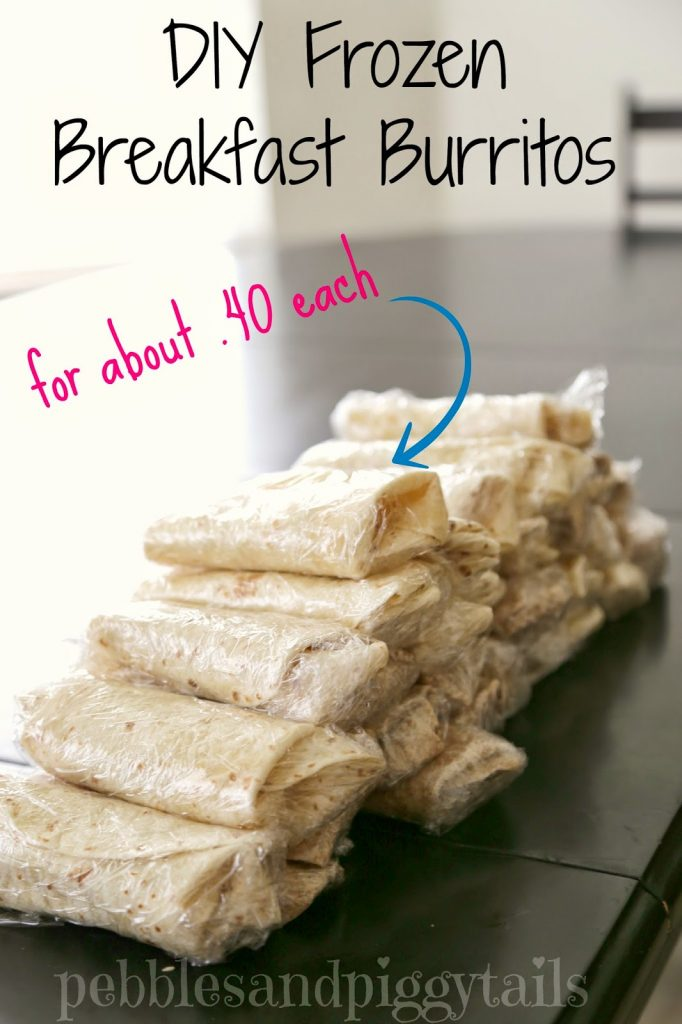 DIY Breakfast Burritos for 40 cents!
