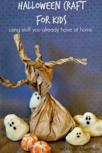 Salt Dough Ghosts and Paper Sack Tree Craft for Kids