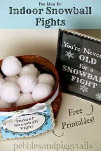 Indoor Snowball Fight Ideas