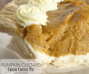Pumpkin custard cream cheese pie recipe