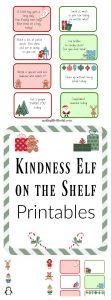 Kindness elf on the shelf printables