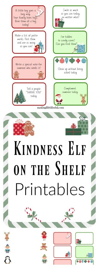 Kindness Elf Printable Cards and Letters