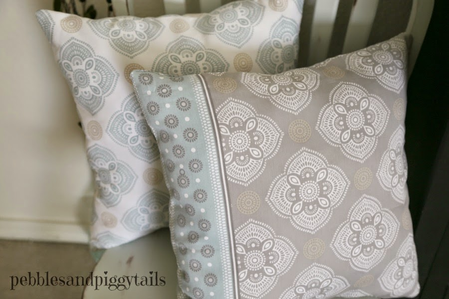 diy pillows from a shower curtain | making life blissful Make Your Own Throw Pillows