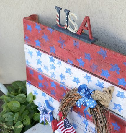 4th of July Pallet Porch Decor Craft