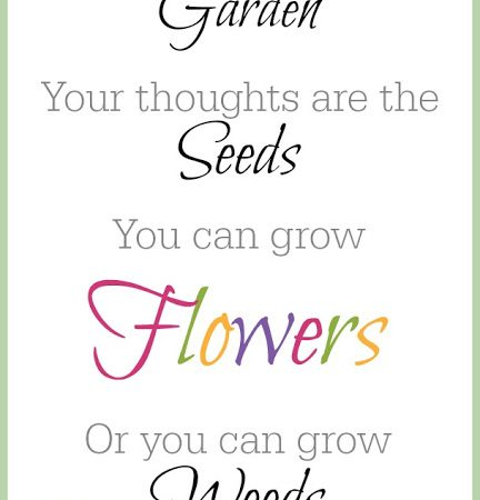 Your Mind is a Garden Free Printable
