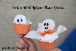 Peek a boo lollipop tissue ghost