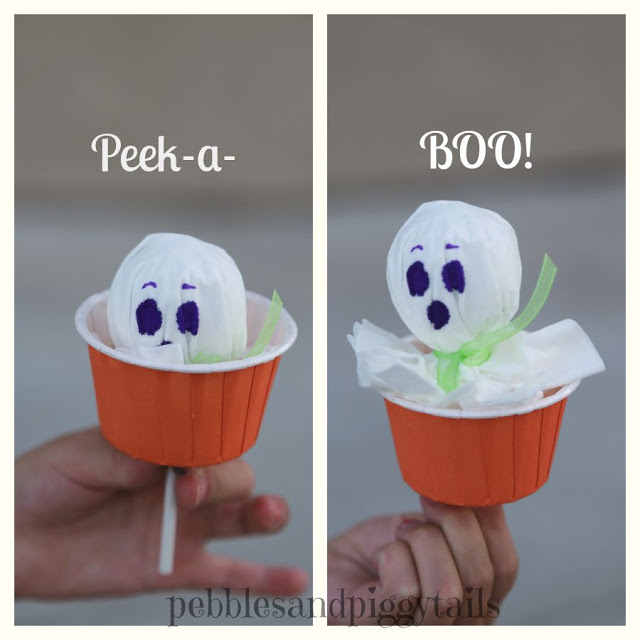 Peek a book Tissue Ghost craft