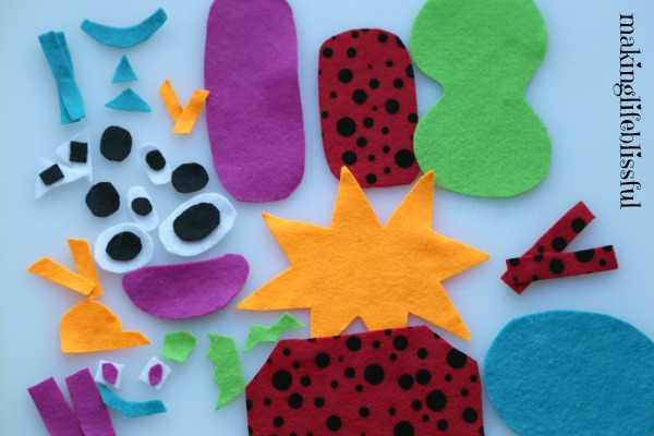 Monster Busy Bag Felt Craft for Kids