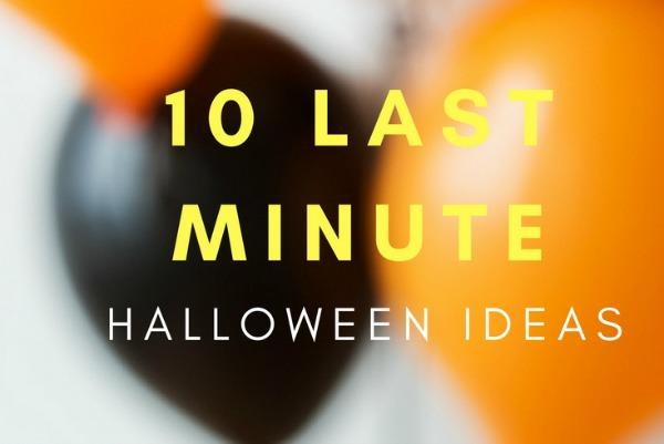 10 last minute halloween ideas
