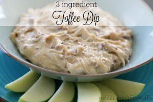 Easy 3 Ingredient Toffee Dip for Apples