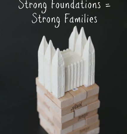 A Strong Foundation in Christ Creates Strong Families FHE Lesson