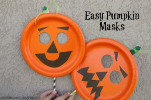 Paper Plate Pumpkin Mask Craft