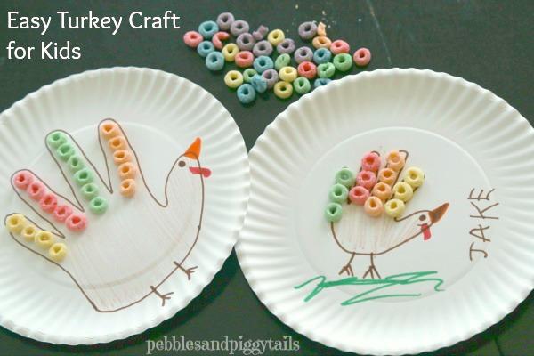 Easy Turkey Hand Craft for Kids