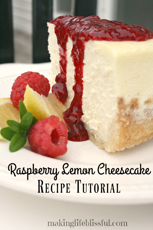 Lemon Raspberry Cheesecake Recipe Tutorial