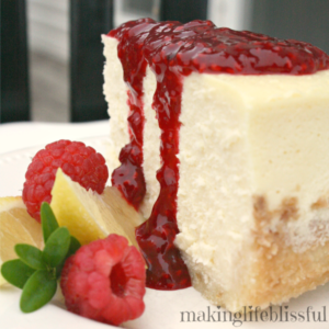 raspberry lemon cheesecake tutorial