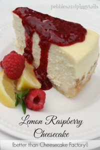Raspberry Lemon Cheesecake Recipe Tutorial