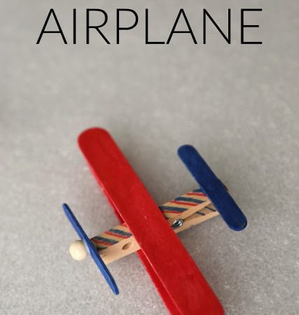 Craft Stick Airplane and Craft Kits for Charity