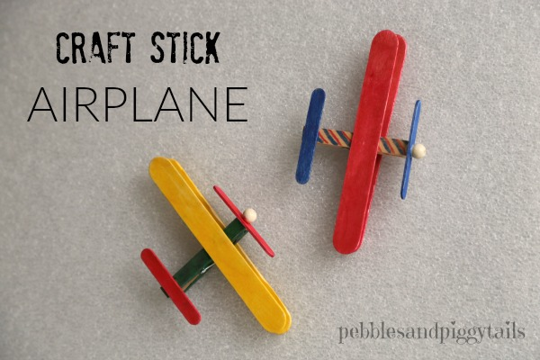 craft stick airplane and craft kits for charity making life blissful
