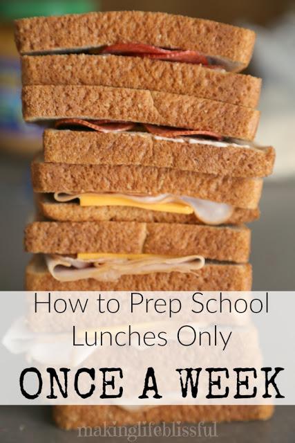 Easy School Lunch Prep HACK