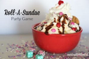 Roll-A-Sundae Ice Cream Party Game