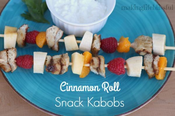 Cinnamon Roll Snack Kabobs