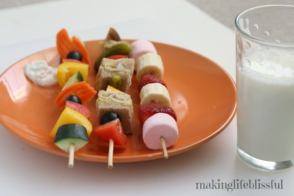 My Kidlets Had A Blast With Lunch Kabobs We Just Put All Our Lunchy Favorites Out And Started Loading Skewers Yummies One Reason I Love
