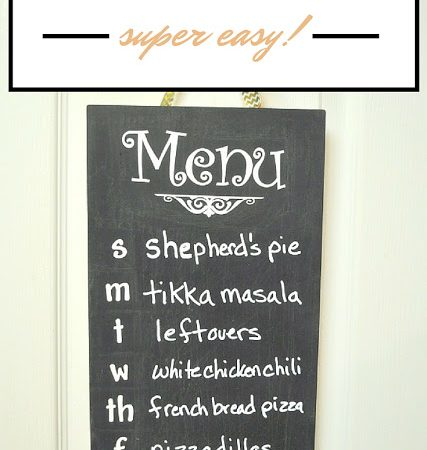Super Easy DIY Menu Board for Meal Planning
