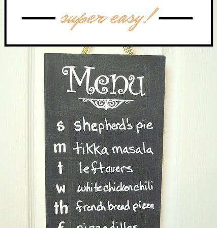 Super Easy DIY Menu Board for Meal Planning