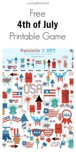 Free Printable I Spy Game for the 4th of July
