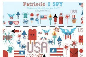 4th of July I Spy Printable Game1
