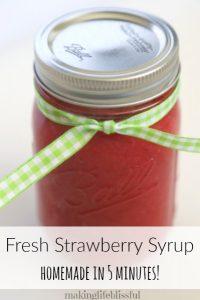 homemade strawberry syrup