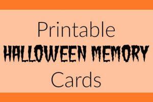 Halloween Memory Game Free Printable