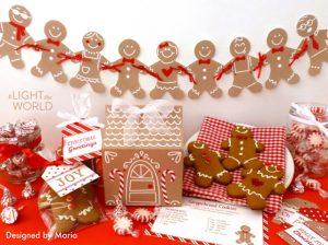 1 Free Christmas Printables Light the World Gingerbread DesignedByMaria