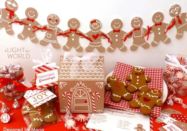 Free Printable Gingerbread Gift Kit to #LIGHTtheWORLD