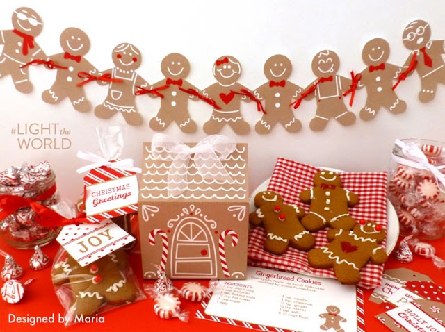 free printable gingerbread kit for service and #lighttheworld