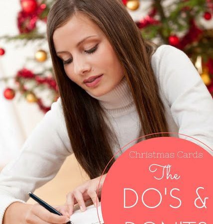 The Dos and Don'ts of Sending Christmas Cards