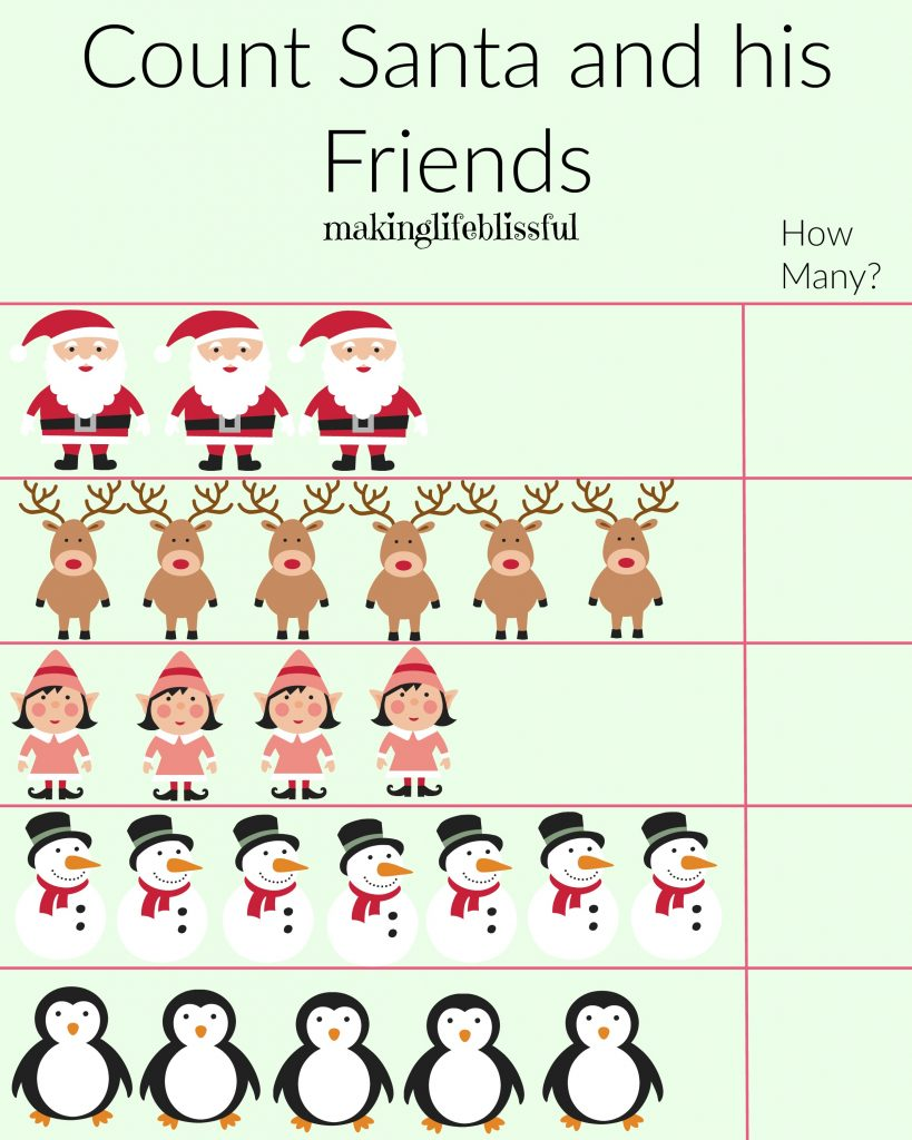 Christmas Santa Activity Sheet Printables