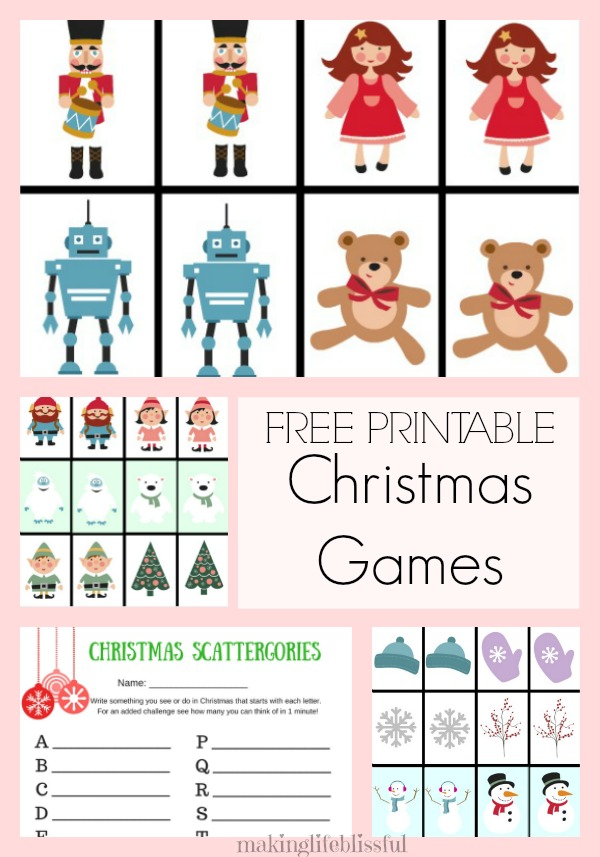 Free Printable Christmas Games for Kids-1 | Making Life Blissful