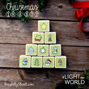 How to Make Christmas Tree Activity Blocks for #LIGHTtheWORLD